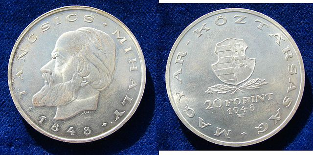 Hungary_20_Forint_1948_Silver_Coin_Tancsics