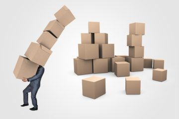 Box Businessman Delivery Logistics Boxes Transport