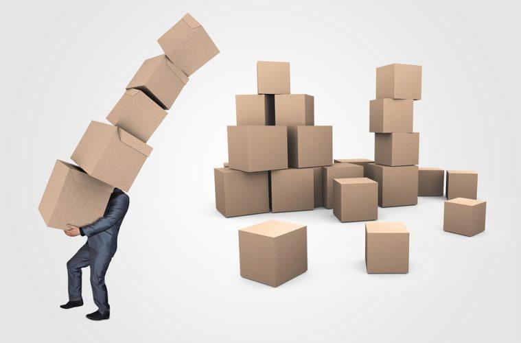Box Businessman Delivery Logistics Boxes Transport